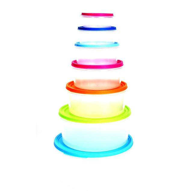 14-Piece Multi-Color BPA Free Food Storage Container Set – Circle