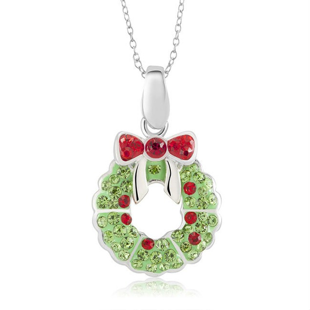 Christmas Holiday Crystal Necklaces - 6 Styles