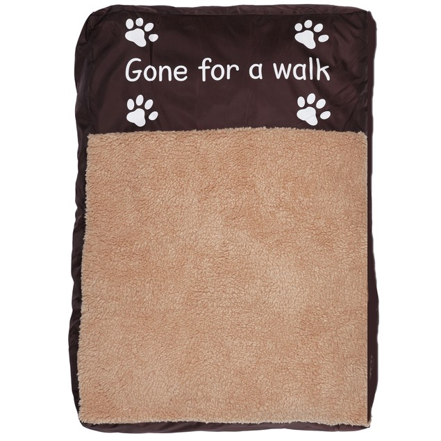Faux Sheepskin Memory Foam Pet Bed - Gone For a Walk