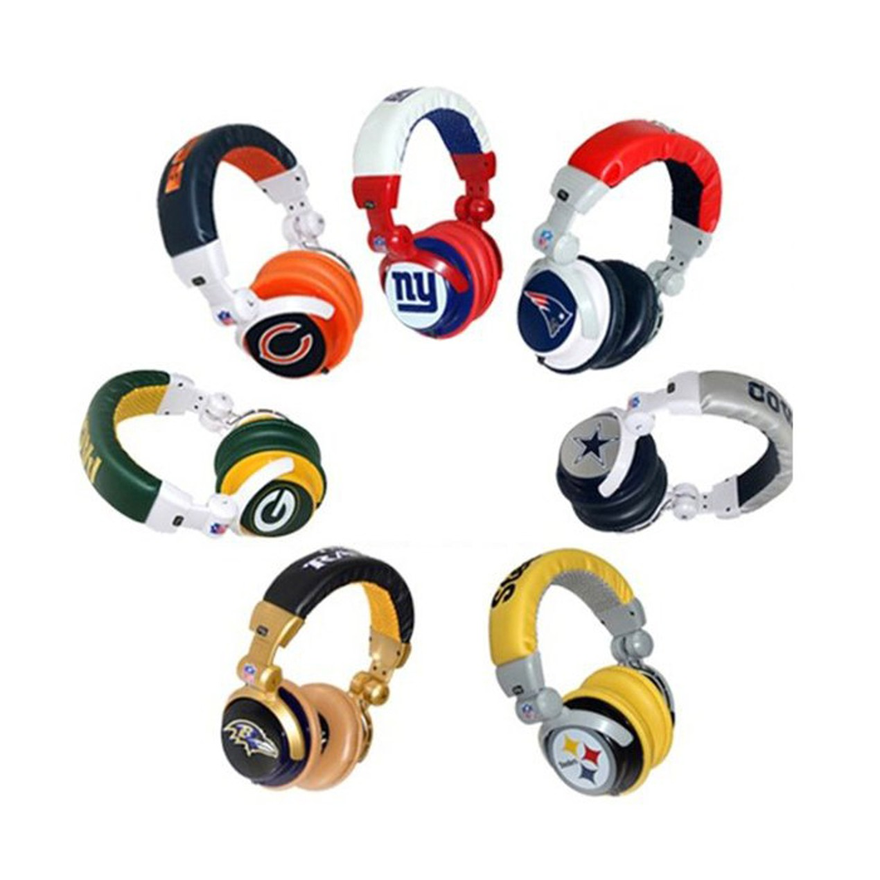 c4ab588e Official Licensed iHip NFL PRO DJ Headphones - Tanga