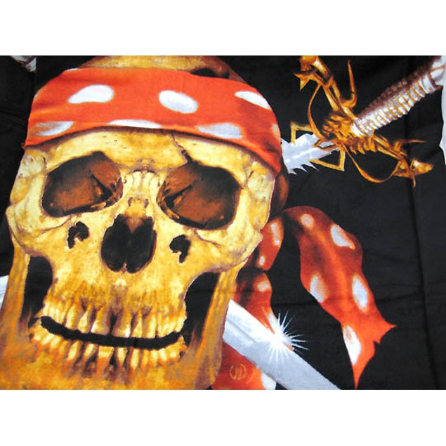 Pirate Skull  Crossbones Beach Towel 60 In. X 30 Beach Towels