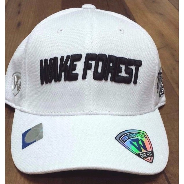 "Wake Forest Demon Deacons NCAA TOW ""Dogleg"" Stretch Fitted Hat New"