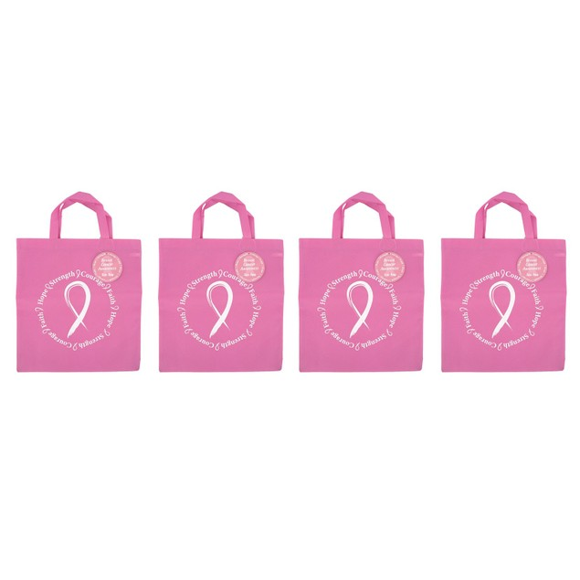 2 or 4-Pack Breast Cancer Awareness Everyday Use Tote