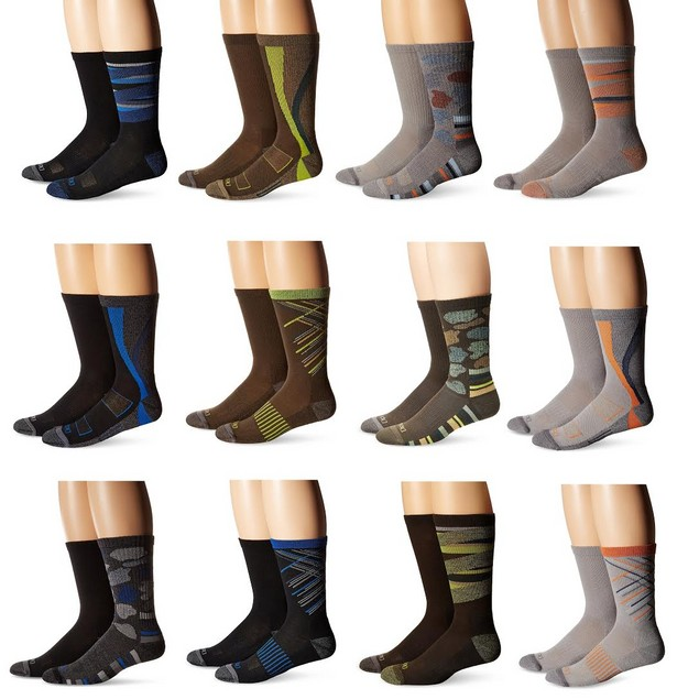 12-Pairs Dickies Action Crew Performance Socks