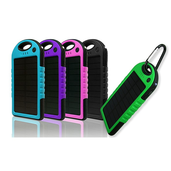 Water-Resistant 5000 mAh Solar Smartphone Charger
