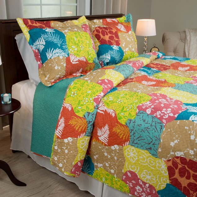 Lavish Home 3 Piece Regan Quilt Set