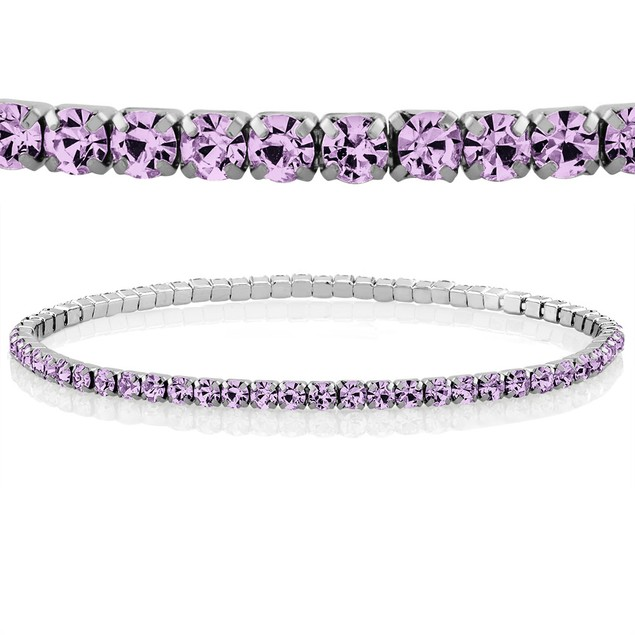Colored Crystal Tennis Bracelets - 8 Colors