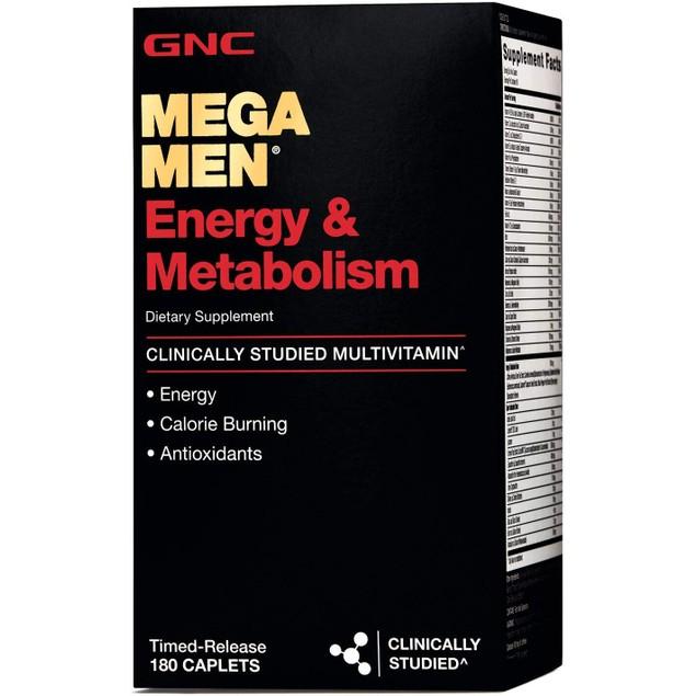 GNC Mega Men Energy and Metabolism Multivitamin for Men, 90 Caplets