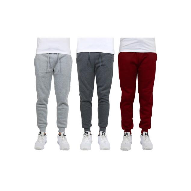3-Pack Men's Fleece Jogger Sweatpants (S-2XL)