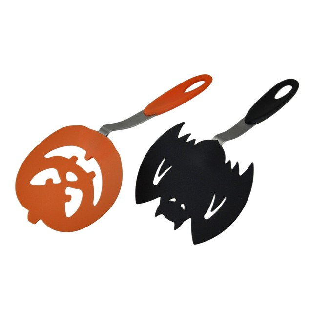 Halloween Black Bat & Orange Pumpkin Spooky Cookie Spatulas