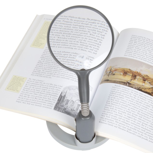 Stalwart 2 LED 2x Adjustable Magnifier Lamp - Desktop & Handheld