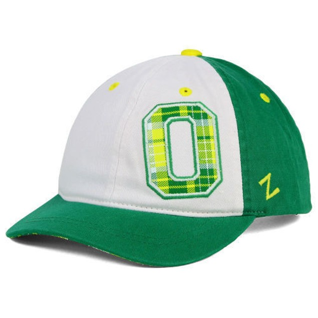 "Oregon Ducks NCAA Zephyr ""Women's Washed Plaid"" Adjustable Hat"