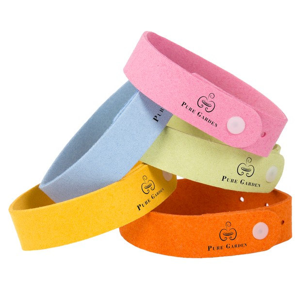 Pure Garden Mosquito Repellent Wristband - Pack of Five