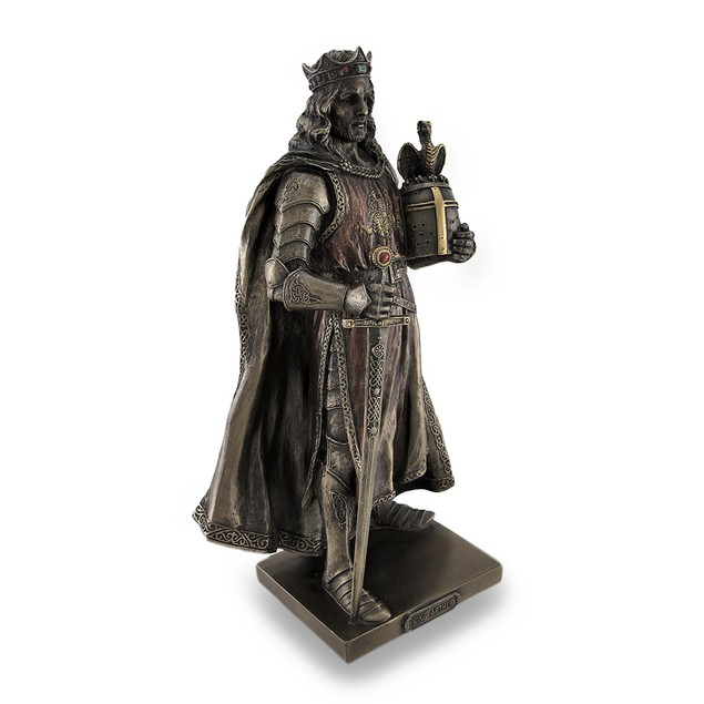 Legendary King Arthur Bronzed Sculptured Statue Statues