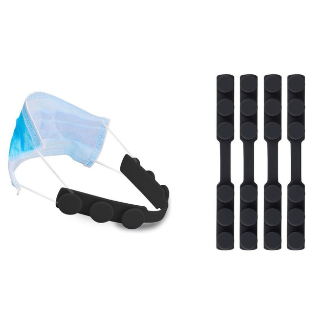 Anti Slip Adjustable Ear Protector And Mask Pressure Reducer (4-Pack)