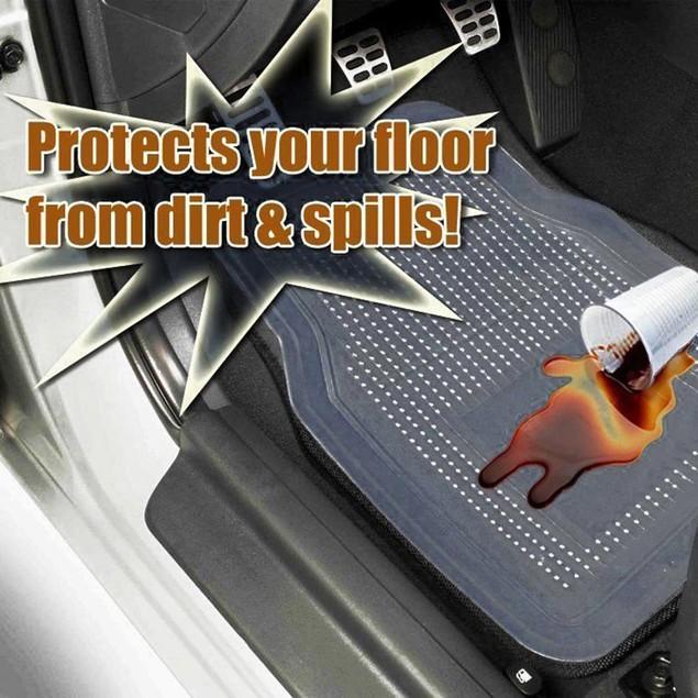 Zone Tech Durable Rugged Rubber Floor Mats 4 Piece