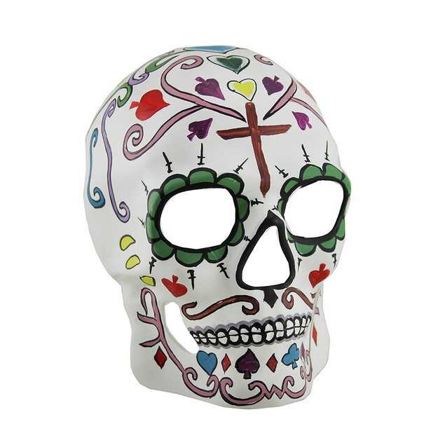 Dod Colorful Full Face Sugar Skull Adult Mask Mens Costume Masks