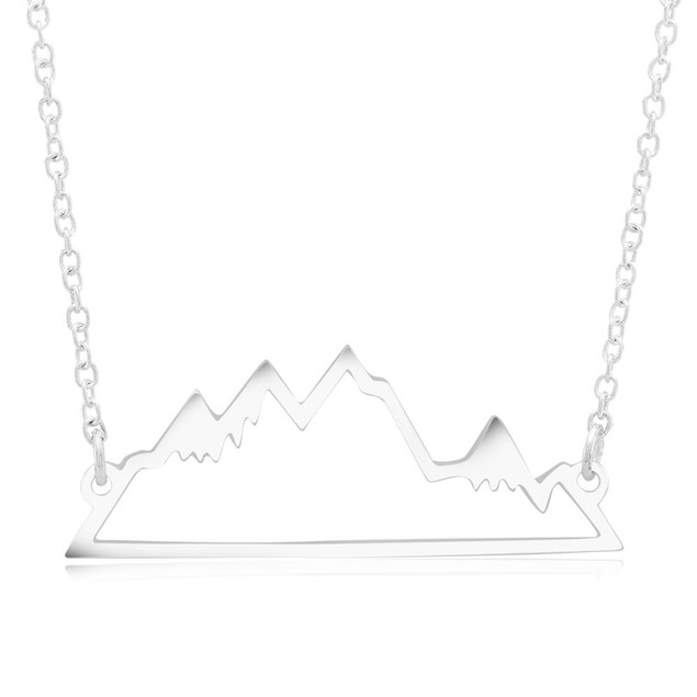 Carved Mountain Necklace