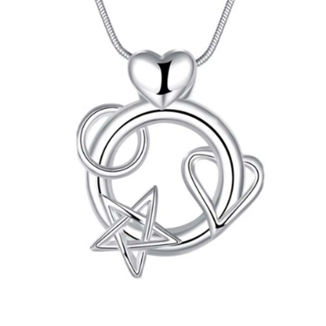Love You to the Moon Necklace in Sterling Silver
