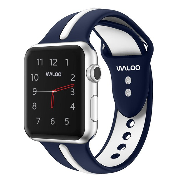 Waloo Two Toned Silicone Apple Watch Band for Apple Watch Series 1, 2,3,4