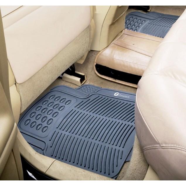 Zone Tech 4 Piece Gray Heavy Duty Car Vehicle Floor Mats