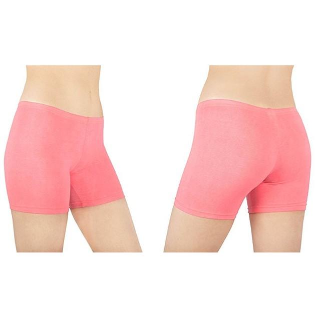6-Pack: Sexy Basics Women's Cotton Stretch Boy Shorts