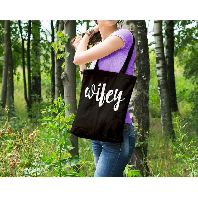 Wifey Black Tote Bag