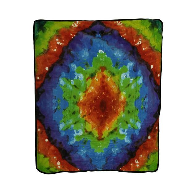 Super Soft Tie Dye Pattern Fleece  50 X 60 Inch Throw Blankets