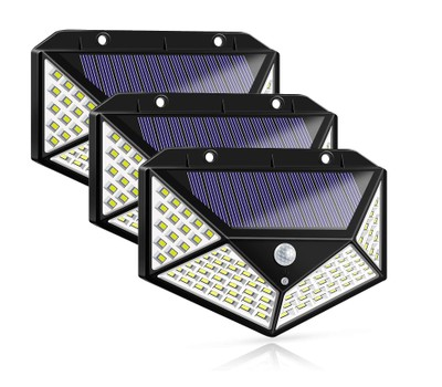 3-Pack 100-LED Solar Powered Motion Sensor Lights with 3 Mode 270° Wide Angle Was: $29.99 Now: $27.99.