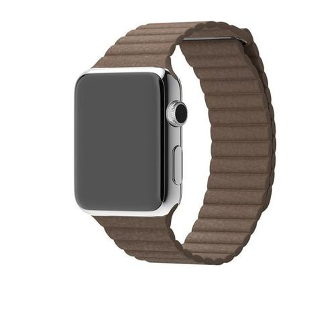 iPM Leather Bracelet With Magnetic Closure For Apple Watch