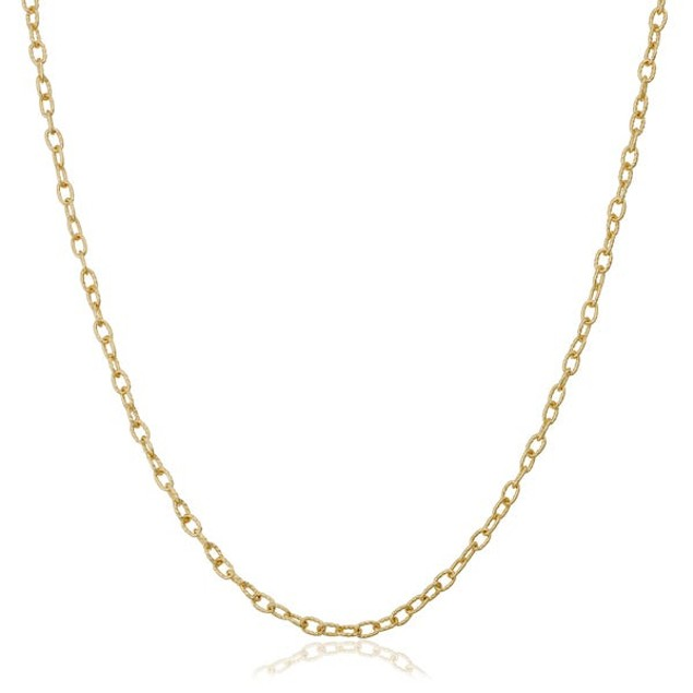 18kt GoldTone Cable Chain