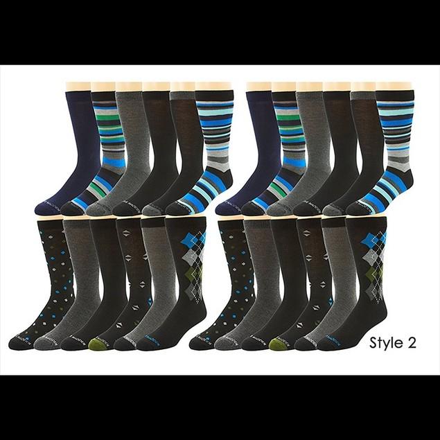 24-Pairs: Steve Madden Men's Dress Socks