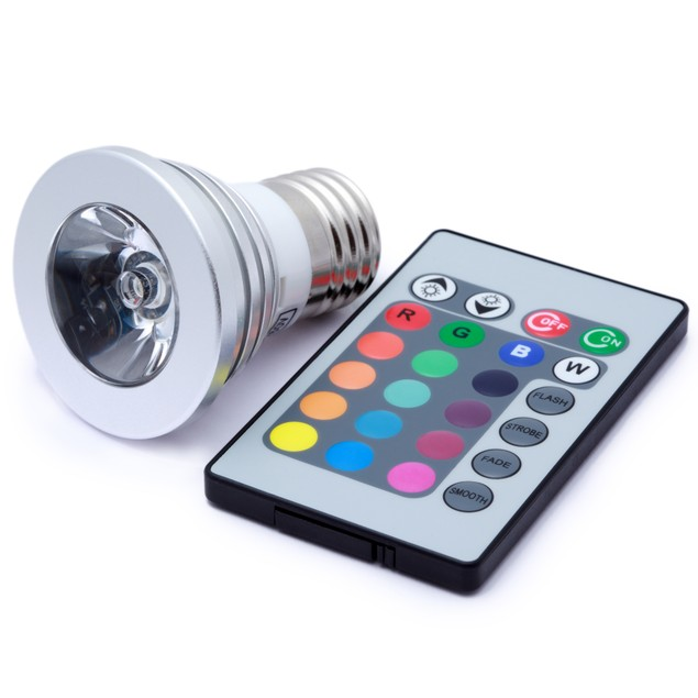 3-Pack Color Changing LED Light Bulbs with Remote