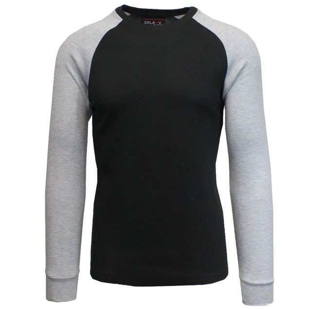 Galaxy by Harvic Men's Thermal Raglan Long Sleeve T-Shirts