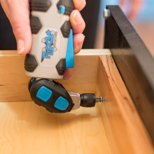 SpeedHex FlipOut Rechargeable Cordless Screwdriver w/ Battery and Bits