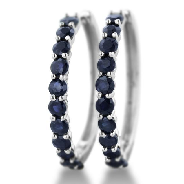 3.3ct Sapphire Hoop Earrings