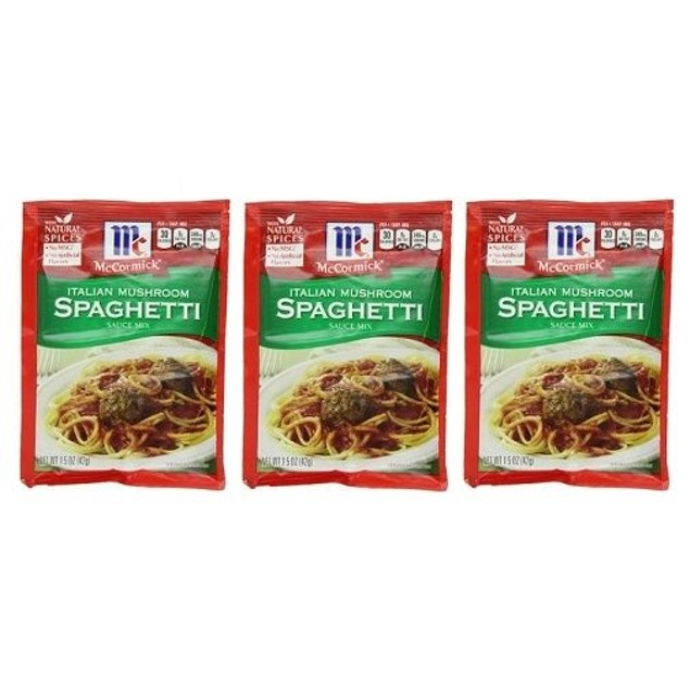 McCormick Italian Mushroom Spaghetti Sauce Mix 3 Packet Pack