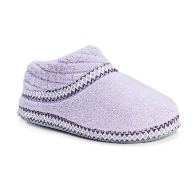 MUK LUKS  Rita Micro Chenille Full Foot Slippers