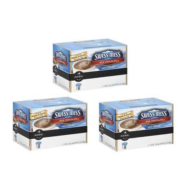 Swiss Miss Hot Milk Chocolate Keurig K-Cups 3 Box Pack