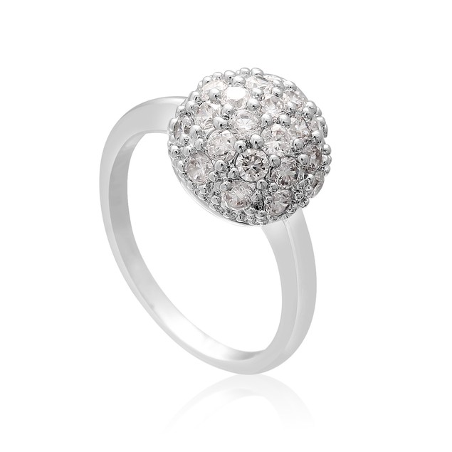Created Diamond Pave Ball Ring