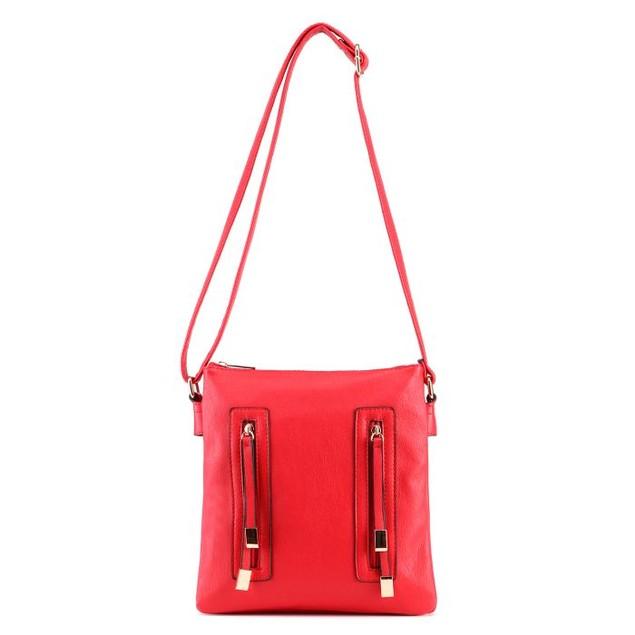 MKF Collection Bridget Double Zipper Cross-Body Bag