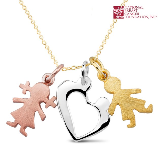 National Breast Cancer Foundation Inspirational Jewelry - Sterling Silver Heart Pendant