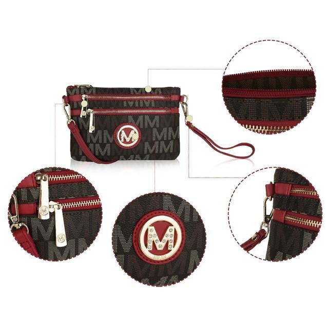 MKF Collection Helen Milan M Signature Crossbody Wristlet by Mia K.