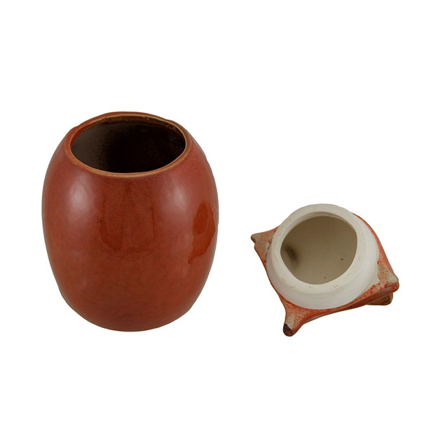 Orange Ceramic Fox Cookie / Treat Jar Cookie Jars