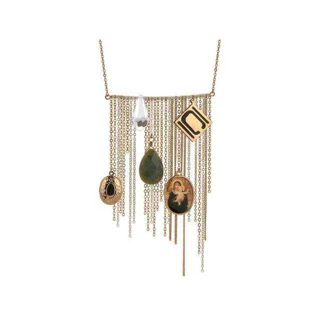 Authentic Nikki Chu Gold Tone Opera Length Tassle Necklace