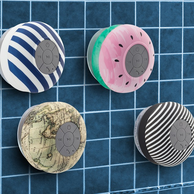 Liger Water Resistant Bluetooth 3.0 Shower Speaker with Built-in Mic