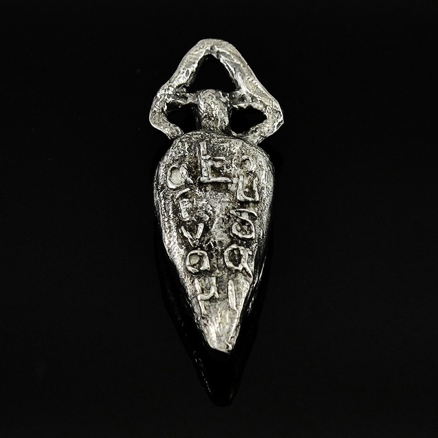 Greek `Live Well` Pewter Pendant Or Key Chain Pendants