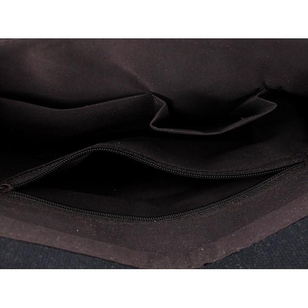 Black Canvas Foldover Cross Body Bag W/Detachable Womens Cross Body Bags
