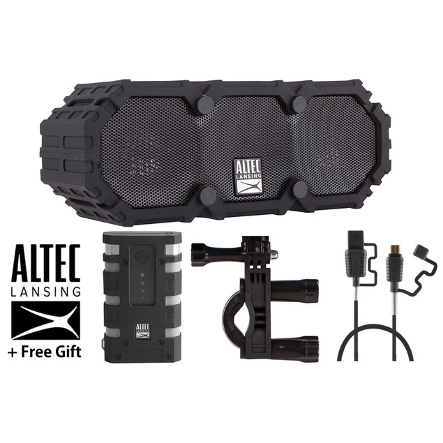 Altec Lansing Waterproof IMW478 Bluetooth Speaker Bundle