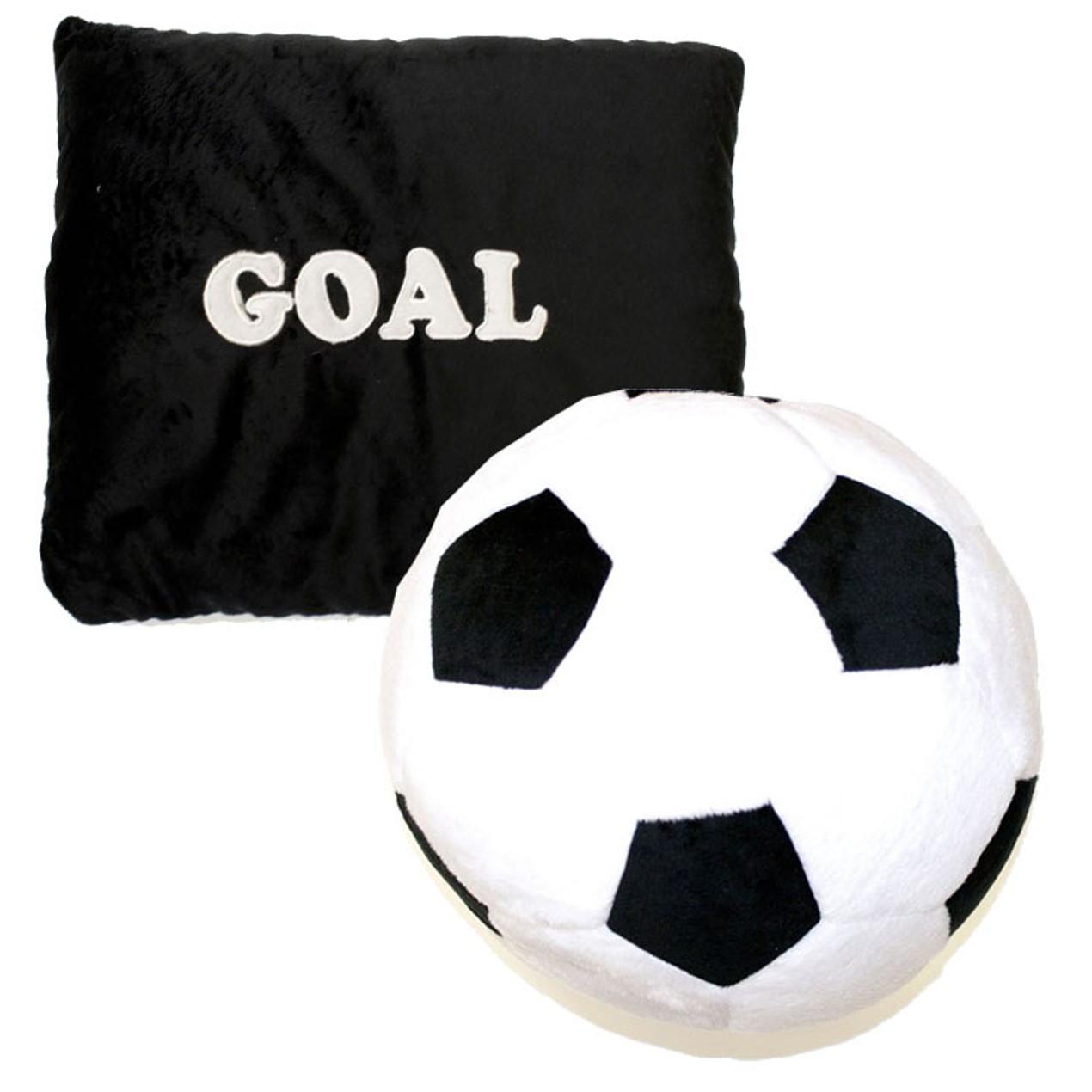 Goal Soccer Ball Plush Pillow